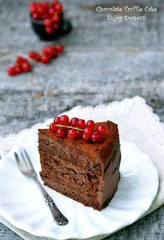 Chocolate Truffle Cake, Chocolate Truffles, Homemade Chocolate, Chocolate Cakes, Truffle Cream, Cake Recipes, Dessert Recipes, Cake Truffles, Desserts To Make