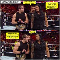 Dean Ambrose, Seth Rollins, Roman Reigns, Credit Jen@dean-ambrose.net