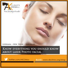 Photo Facial is done in easy steps which helps in repairing broken capillaries and remove brown spots from your face.