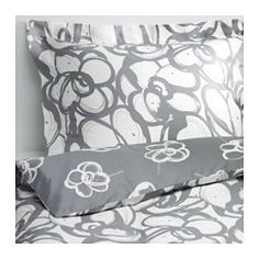 I love this so much. simple design and color. KLÄNGLILJA Duvet cover and pillowcase(s) - Full/Queen - IKEA