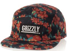 Tropical High 5-Panel Hat by GRIZZLY GRIPTAPE
