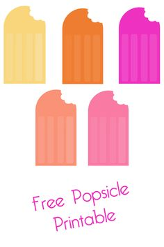 printable popsicle garland - download the free printable and make ... - Printable Popsicle Coloring Pages