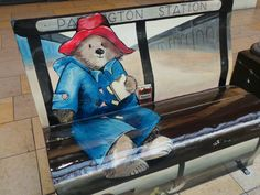 The Paddington Bear Book Bench, which was part of the National Literacy Trust's Books About Town trail in London between July and September 2014, is now at Paddington Station.