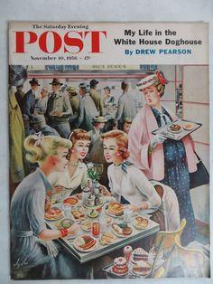 Saturday Evening Post Magazine  November 10,1956 Constantin Alajalov VINTAGE ADS