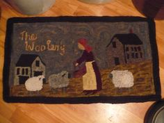 Primitive Rug Hooking Pattern on Linen The by VintageHeartPrims, $48.00