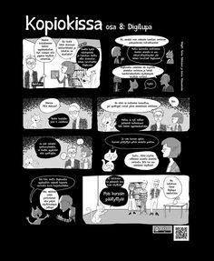 Kopiokissa osa 8. Digilupa - Opettajan tekijänoikeusOpettajan tekijänoikeus Tieto, Comics, Cartoons, Comic, Comics And Cartoons, Comic Books, Comic Book, Graphic Novels, Comic Art