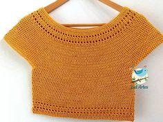 Crochet Top, Crochet Patterns, Crop Tops, Knitting, Summer, Crafts, Clothes, Women, Fashion