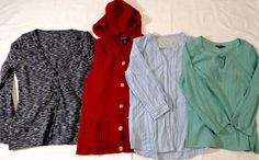 Royal Robbins Cardigan Blouses long Sleeve Eddie Bauer Vest lot of 4 size S,M #RoyalRobbins #blouse