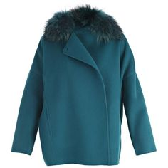 Parosh Blazer (6,965 EGP) ❤ liked on Polyvore featuring outerwear, jackets, blazers, teal, blue jackets, blue blazer, teal jacket, blue blazer jacket and blazer jacket