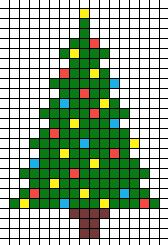 Christmas tree cross stitch but also could be used for button tree pattern...