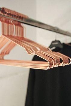 Hay Denmark Hang Coat Hanger in Copper and Black