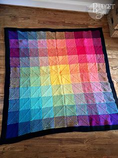 This rainbow hue shift blanket knitting pattern is fun and easy to knit. The resulting blanket is also incredibly soft and heavy. Perfect for cooler months! Square Blanket, Afghan Blanket, Knitted Baby Blankets, Soft Blankets, Crochet Blanket Patterns, Baby Knitting Patterns, Crochet Afghans, Heavy Blanket, Fair Isle Pattern