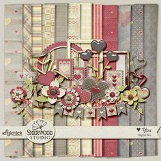 Hand-selected designer freebies for digital scrapbooking