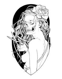 Poster 2011 von Roman Kreemos, via Behance - New Ideas Skull Illustration, Porno, Anime Neko, Dark Fantasy Art, Love Photography, Graphic Design Art, Animal Drawings, Doodle Art, Line Art