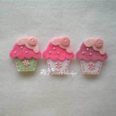 Handmade Cupcake Felt Applique  Double by TRPcreativedesign01, $4.00