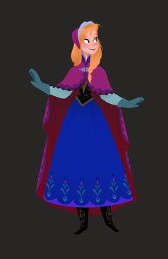cap, cape, mittens... Anna from frozen