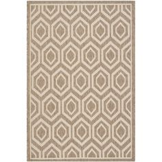 Safavieh Indoor/ Outdoor Courtyard Brown/ Bone Rug (9' x 12') | Overstock.com Shopping - Great Deals on Safavieh 7x9 - 10x14 Rugs - for downstairs room