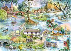 The House Of Puzzles - 500 PIECE JIGSAW PUZZLE - All Seasons Unusual Pieces in Toys & Games, Jigsaws & Puzzles, Jigsaws   eBay