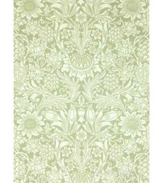 Sunflower Pale Green från William Morris & Co William Morris Tapet, William Morris Wallpaper, Morris Wallpapers, Demask Wallpaper, Accent Wallpaper, Love Wallpaper, Art Deco, Art Nouveau, Edwardian House