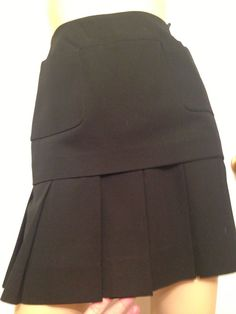 Chanel skirt pleated mini gold Chanel buttons #CHANEL #Pleated