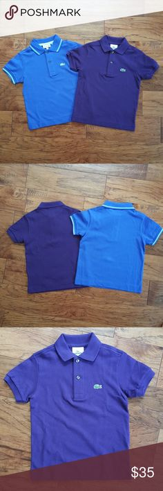 Youth Lacoste Polo NWT, can be purchased separately or together. Lightweight polo shirt, beautiful flourescent buttoms, slim fit. Price below is for one shirt, if both are desired, we can work out an offer Lacoste Shirts & Tops Polos