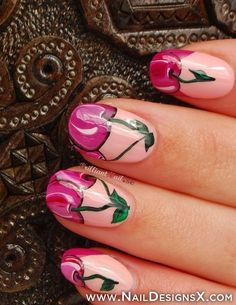 cherry nail art - Nail Designs & Nail Art