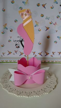 first birthday party idea Ballerina Birthday Parties, Ballerina Party, Birthday Diy, First Birthday Parties, Girl Birthday, Ballerina Centerpiece, Ballerina Baby Showers, Diy And Crafts, Paper Crafts