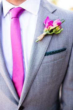 Boutonniere E Cravatta In Fuchsia Bellissimo Gorgeous Hot Pink Tie And