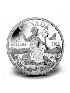 Miss Canada Allegory Silver Coin