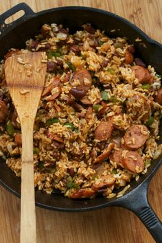 Creole Rice Skillet, the spices are the best part. Most sausage varieties are acceptable, I also used black beans.