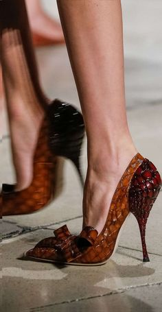 Miu Miu-these heels are too high for me, so I'll have a pair of boots if you please. Fab Shoes, Cute Shoes, Me Too Shoes, Women's Shoes, Shoe Boots, Miu Miu Shoes, High Heels Stiletto, High Heel Pumps, Stilettos