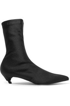 Balenciaga - Spandex Ankle Boots - Black - IT39.5
