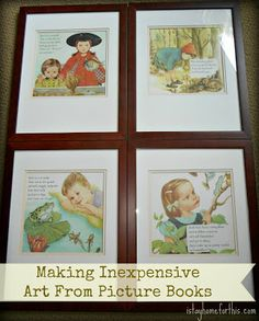 Reuse & Repurpose: Art From Picture Books from I Stay Home for This...
