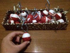 my easy Christmas ornaments fishing bobbers :)