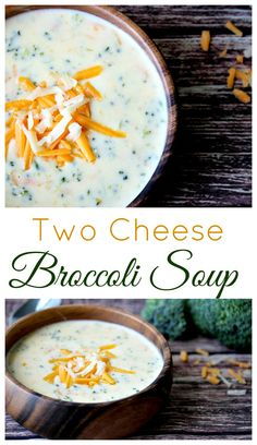 This is the best at-home version of Broccoli Cheese soup I have tried yet!  Using two different cheeses really gave this soup recipe a unique, delicious flavor making it an extra cheesy spin on a popular classic!  It was also very easy to make gluten free!  | www.OurLittleEverything.com