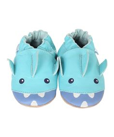 Look what I found on #zulily! Angel Blue Ahhh Shark! Leather Bootie by Robeez #zulilyfinds