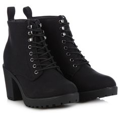 Call It Spring Black 'Hiesen' high ankle boots (€78) ❤ liked on Polyvore