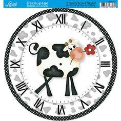 PAPEL PARA DECOUPAGE Compre de quem fabrica Clock Face Printable, Paper Clock, Unusual Clocks, Diy And Crafts, Arts And Crafts, Paper Quilt, Diy Clock, Clock Ideas, Arte Popular