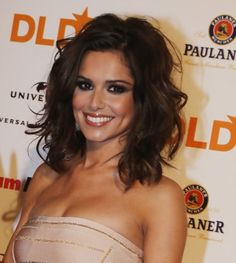 medium length curly hairstyles 2014 | Cheryl Cole Medium Wavy Hairstyle for Mature Women