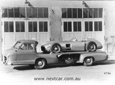 Mercedes car hauler