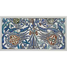 Tile      Place of origin:      Iznik, Turkey (made)     Turkey     Date:      second half of 16th century (made)     Artist/Maker:      Unknown (production)     Materials and Techniques:      Fritware, polychrome underglaze painted, glazed