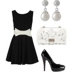 Black and white never goes out of style; how does this combination look for your Friday Night?