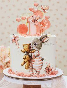 Pretty Cakes, Cute Cakes, Beautiful Cakes, Crazy Cakes, Fancy Cakes, Cake & Co, Cake Art, Birthday Cake For Daughter, Elmo Cake