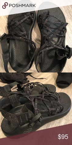 Black Chacos Worn like twice. They are super cute and comfortable just too heavy for my feet! Chaco Shoes Sandals