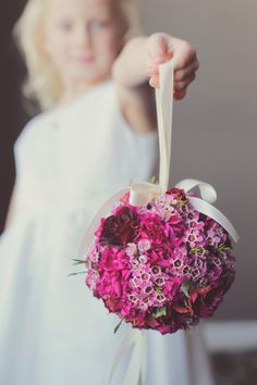 Love this idea for a flower girl! Have her hold a pomander! @vanessa__joy