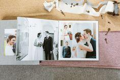 Hochzeitsalbum mit Acryl-Bildfenster - Erinnerungen fürs Herz Digital Foto, Album Cover, Polaroid Film, Wedding, Valentines Day Weddings, Pictures, Photo Books, Memories, Windows