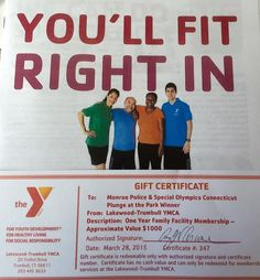 Did your new year's resolution to get in shape fall through?  No problem, we have some great news for you! The Lakewood-Trumbull YMCA has generously donated a ONE-YEAR family membership for this year's Plunge at the Park! An entire year of the fitness center, weight area, aerobic classes, child-watch room and a gymnastics gym!  Get the family together and head over to the YMCA to get moving! http://www.cccymca.org/locations/lakewood-trumbull/