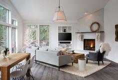 Scandinavian Family Room by Introspecs LLC