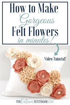 Create Felt Flowers for Home Decor or Fashion Accessories
