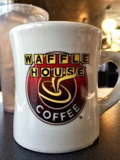 Waffle House Coffee | Closeup of Waffle House coffee cup.